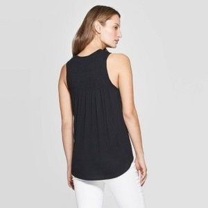 2/ $25 Sleeveless Crew-neck Smoked Tank Top